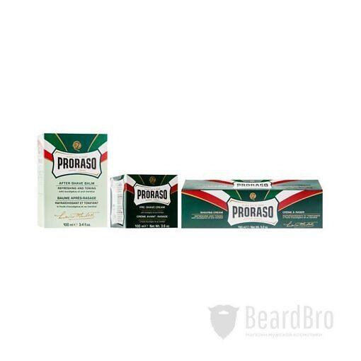 Набор косметики для бритья Proraso Vintage Selection Gino - Refreshing